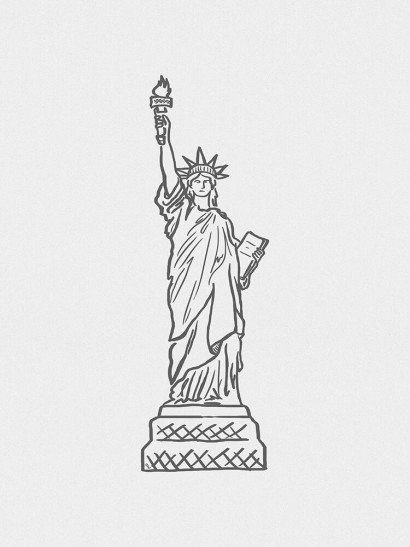 Estátua da Liberdade Minimalista   dibujos   Pinterest   Drawings ...