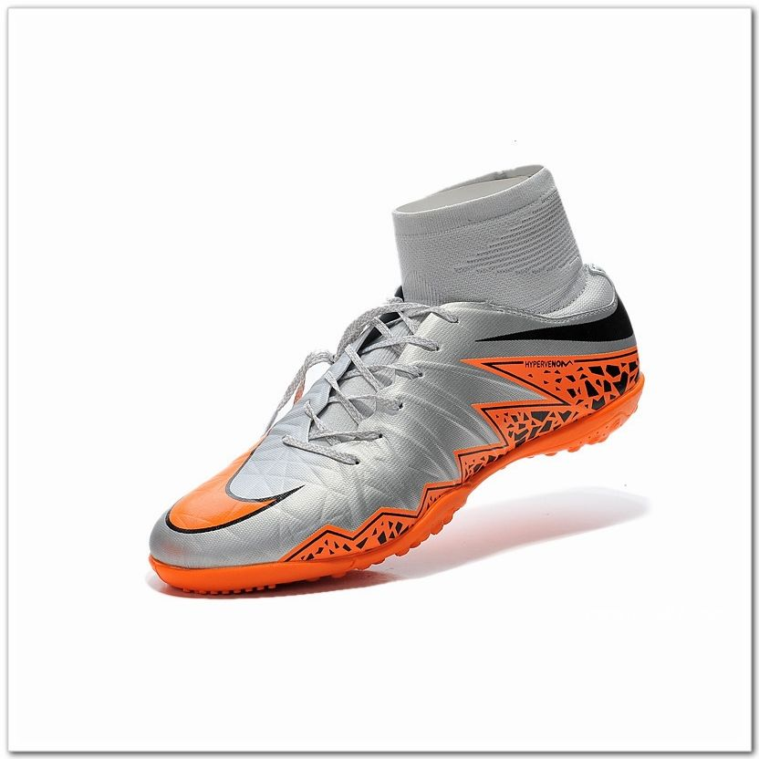 Nike Hypervenom Phelon 2 TF High Silver Orange Black  7e394489474f