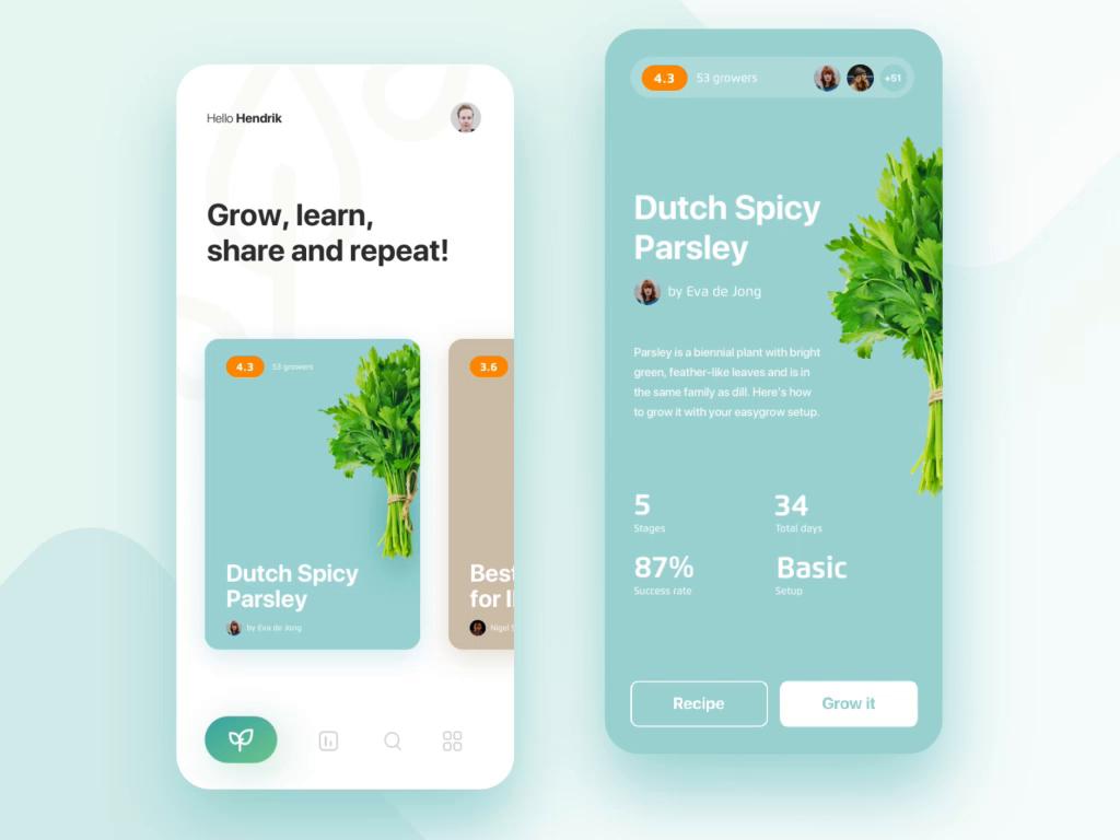 Easygrow Io Recipe Editor By Edmond Vasar App Design Ios Design Web Design Company