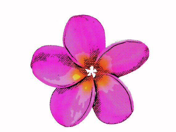 Frangipani Magenta Pop Collection by SnapHarmony on Etsy