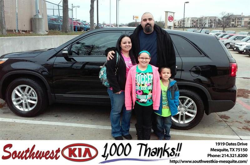 https://flic.kr/p/C8sys2 | Happy Anniversary to Jaynell on your #Kia #Sorento from Mike Stanton at Southwest Kia Mesquite! | deliverymaxx.com/DealerReviews.aspx?DealerCode=VNDX