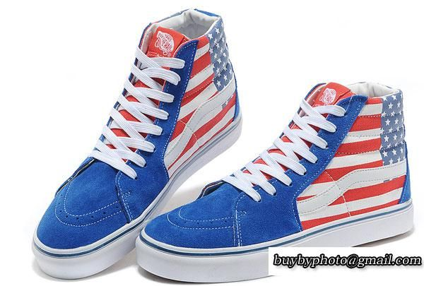 vans high top american flag