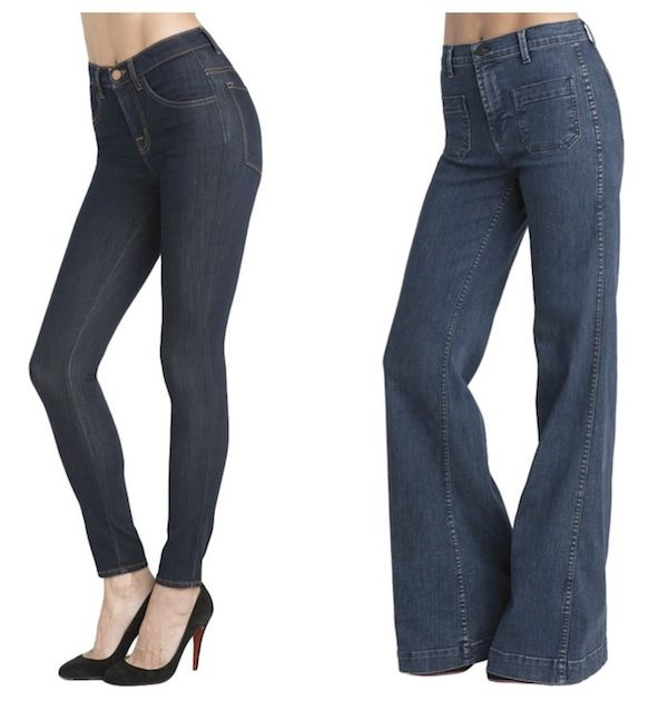 Raven denim orly high waist wide leg jeans
