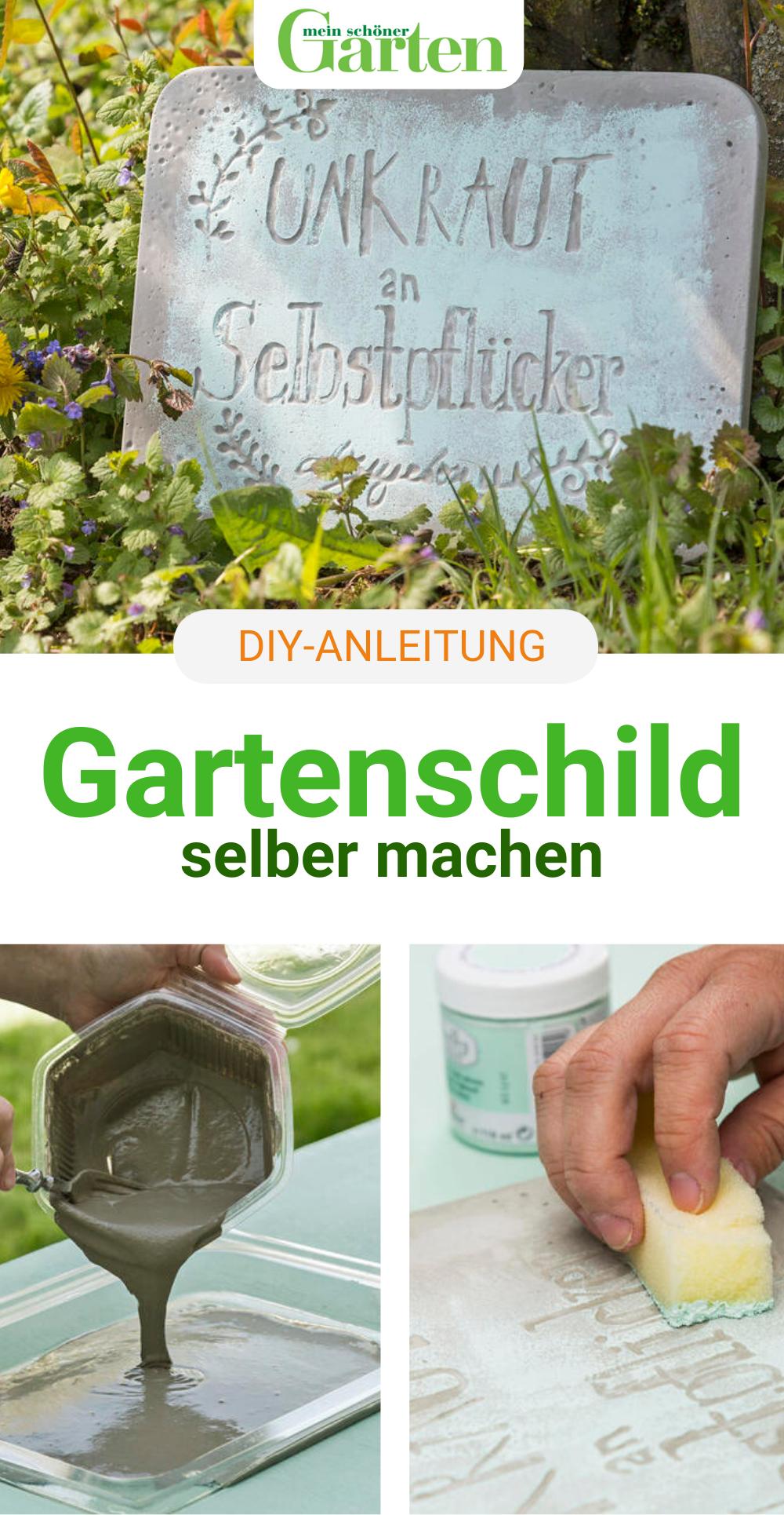 DIY: Gartenschild selber machen