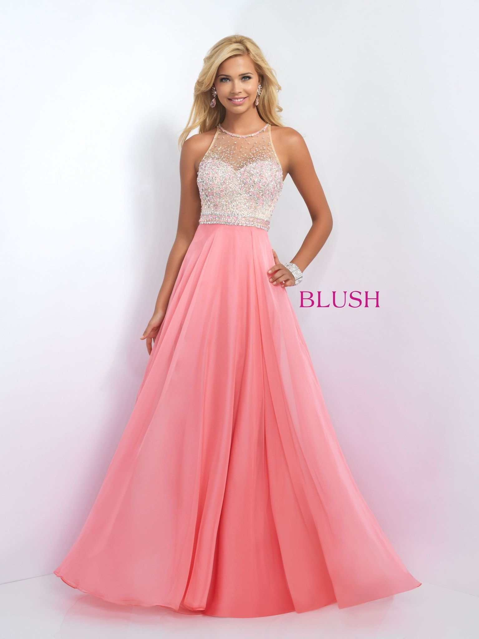Blush Prom 11089 Coral Pink | Products | Pinterest | Blush prom ...