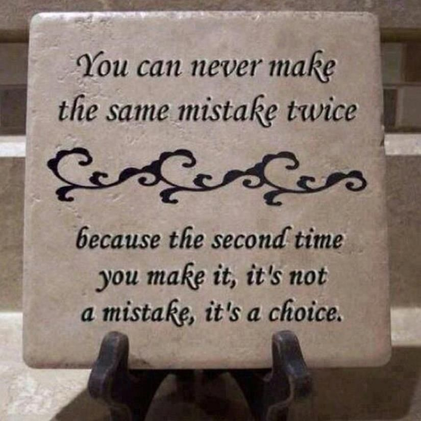 It's not a mistake it's a choice