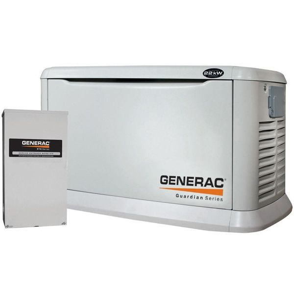 Generac Guardian 22kw Aluminum Standby Generator System 200a Service Disconnect Ac Shedding Gen Standby Generators Generator House Natural Gas Generator