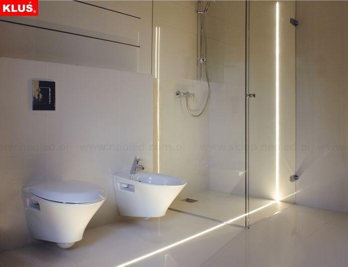 Oswietlenie Led W Lazience Led Bathroom Lights Linear Lighting Led Floor Lights
