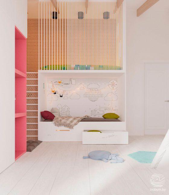 Room Ideas · Ideas Para Decorar Un Dormitorio Infantil Con Zona De Juegos