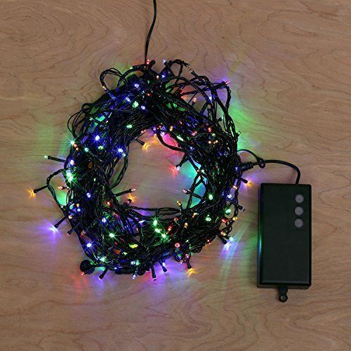 62 Foot Multi Color Battery String Lights with 8 Functions  Auto