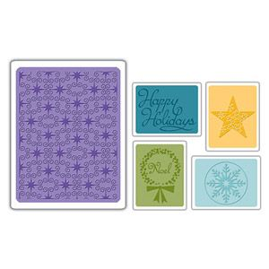 656 586 Sizzix Textured Impressions Embossing Folders 5PK - Winter Set #3 $10.99