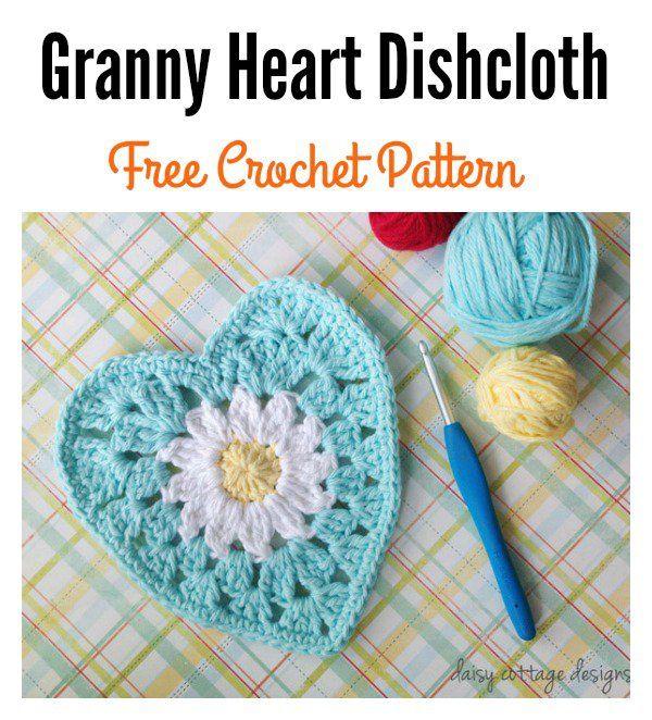 8 Heart Free Crochet Patterns You\'ll Love | Paño de cocina, Paños y ...