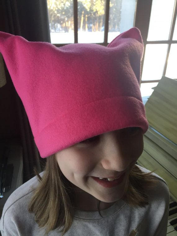 Warm Pussy Hats by CaughtRedThreaded on Etsy