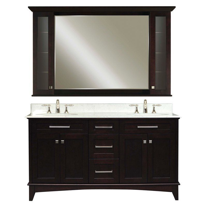 Water Creation Manhattan 60 in Double Sink Bathroom Vanity