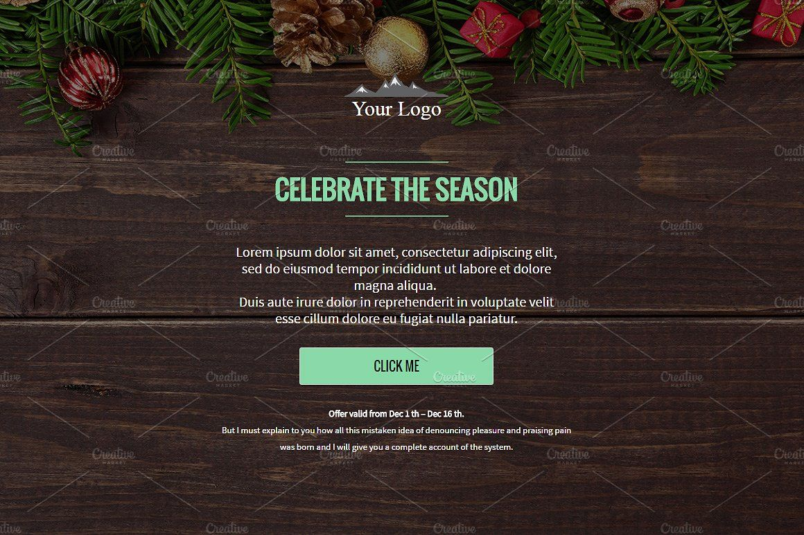 3 Winter Email Templates Pack Code Break Offer Price