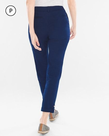 ea8751d5c1d Chico s Women s Comfort Waist Petite Luxe Utility Ankle Pants ...
