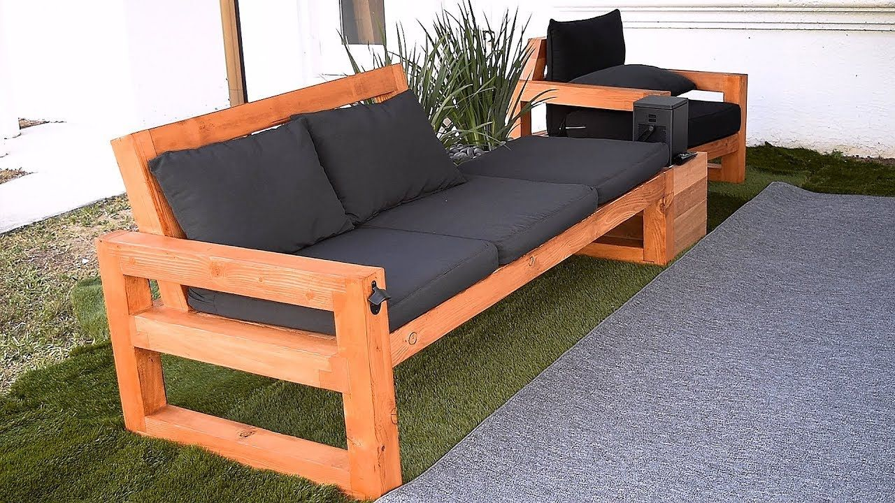 DIY Modern Outdoor Sofa Watch this video and learn how