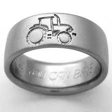 Grooms Wedding Band Option For A Country Wedding Titanium