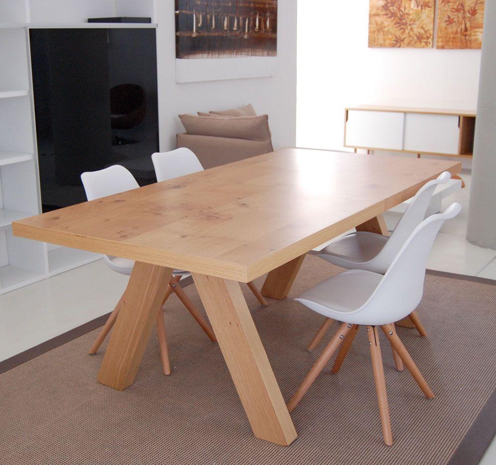 Mesa de comedor Apex / Alpha roble o cemento | Decoration