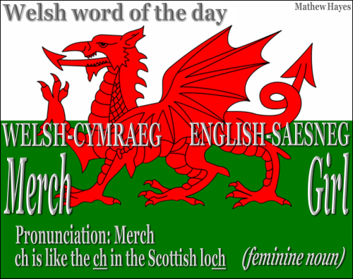 #Welsh Word of the Day: Merch/ #Girl