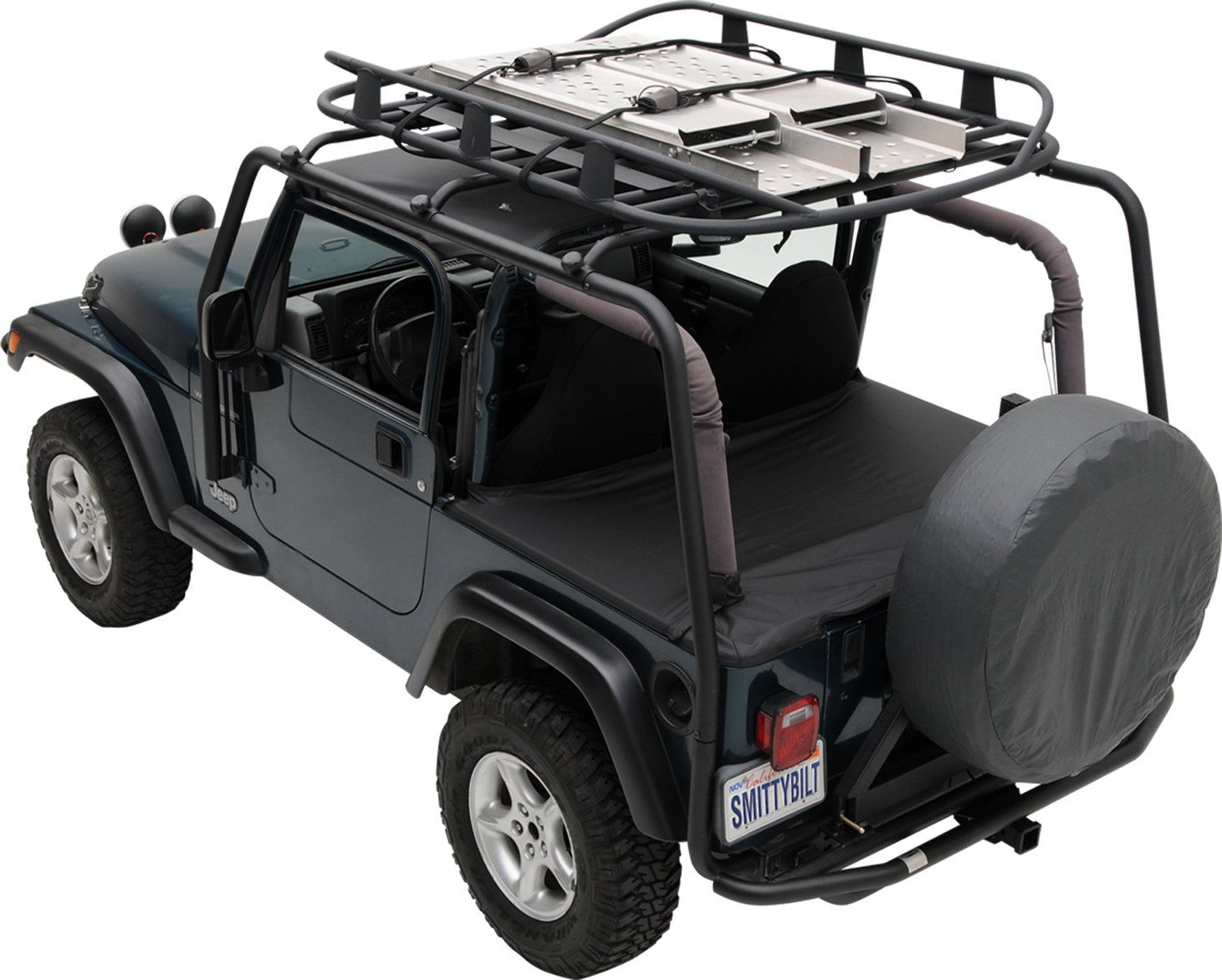 Constructed From High Quality Steel Tubing And Supported With Heavy Duty Bracketry The Smittybilt Src Roof Rack Roof Rack 2006 Jeep Wrangler Jeep Wrangler Jk