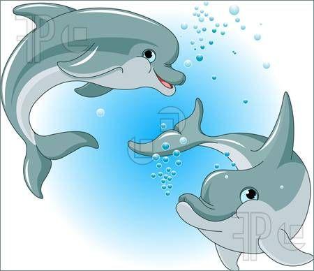 Dolphins Couple Illustration Cartoon Dolphin Dolphin Drawing Dolphin Clipart