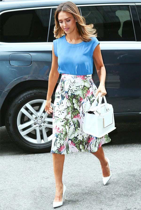 9a4dcb798 Como Usar Saia Midi no Trabalho | roupas femininas | Skirts, How to ...