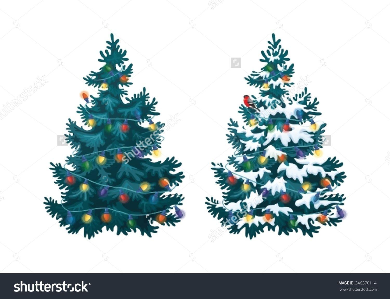 Realistic christmas tree drawing - Tree Vector Vector Christmas Tree Drawn Christmas Tree Realistic