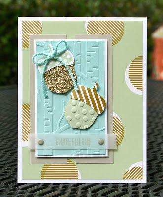 Krystal's Cards: Stampin' Up! Acorny Splitcoast Challenge #stampinup #krystals_cards #acornythankyou #CC552 #SC562 #splitcoaststampers #handstamped #cardmaking #papercrafts