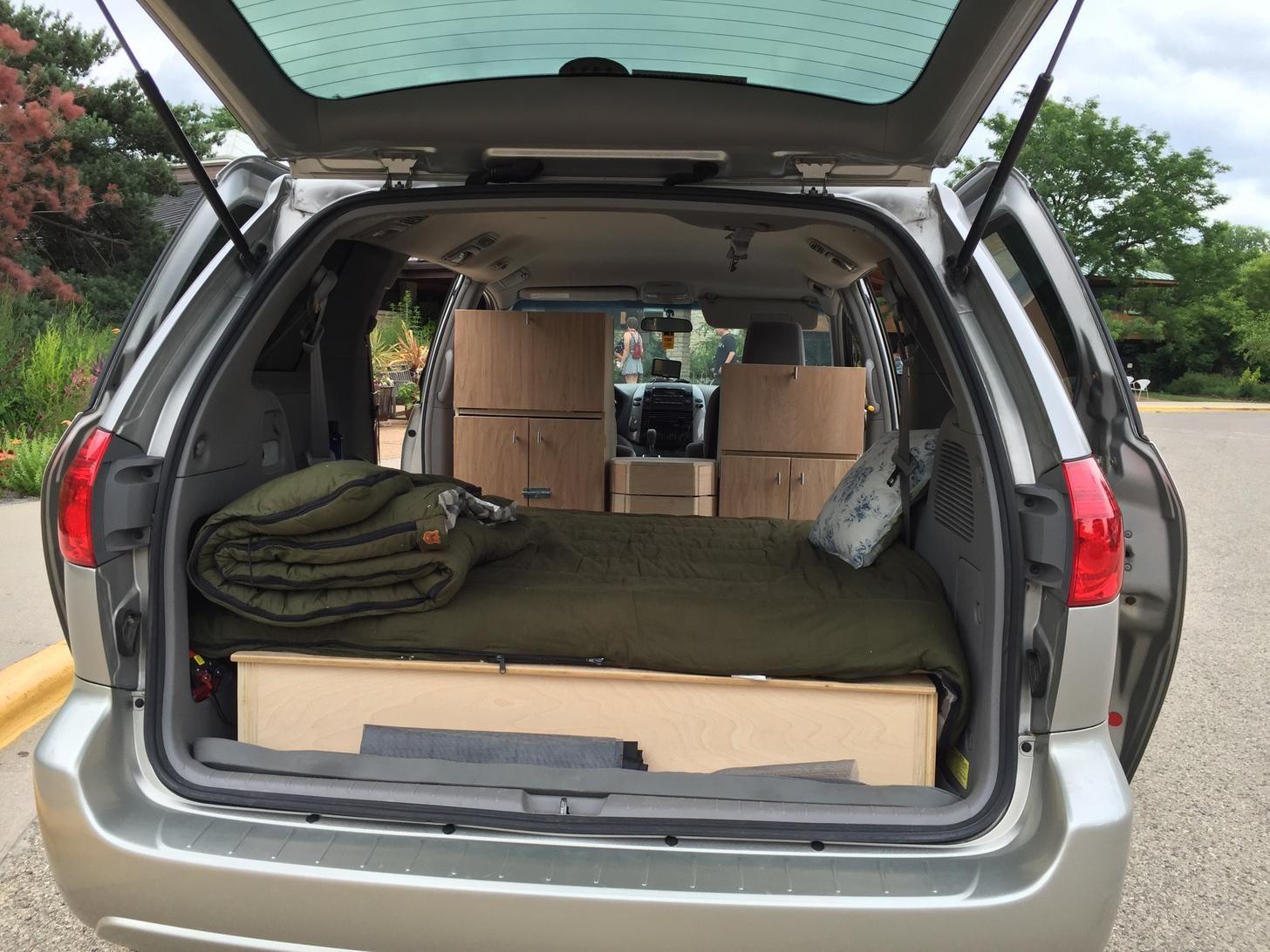 Toyota Sienna Mini Camper Van Car Camping Pinterest