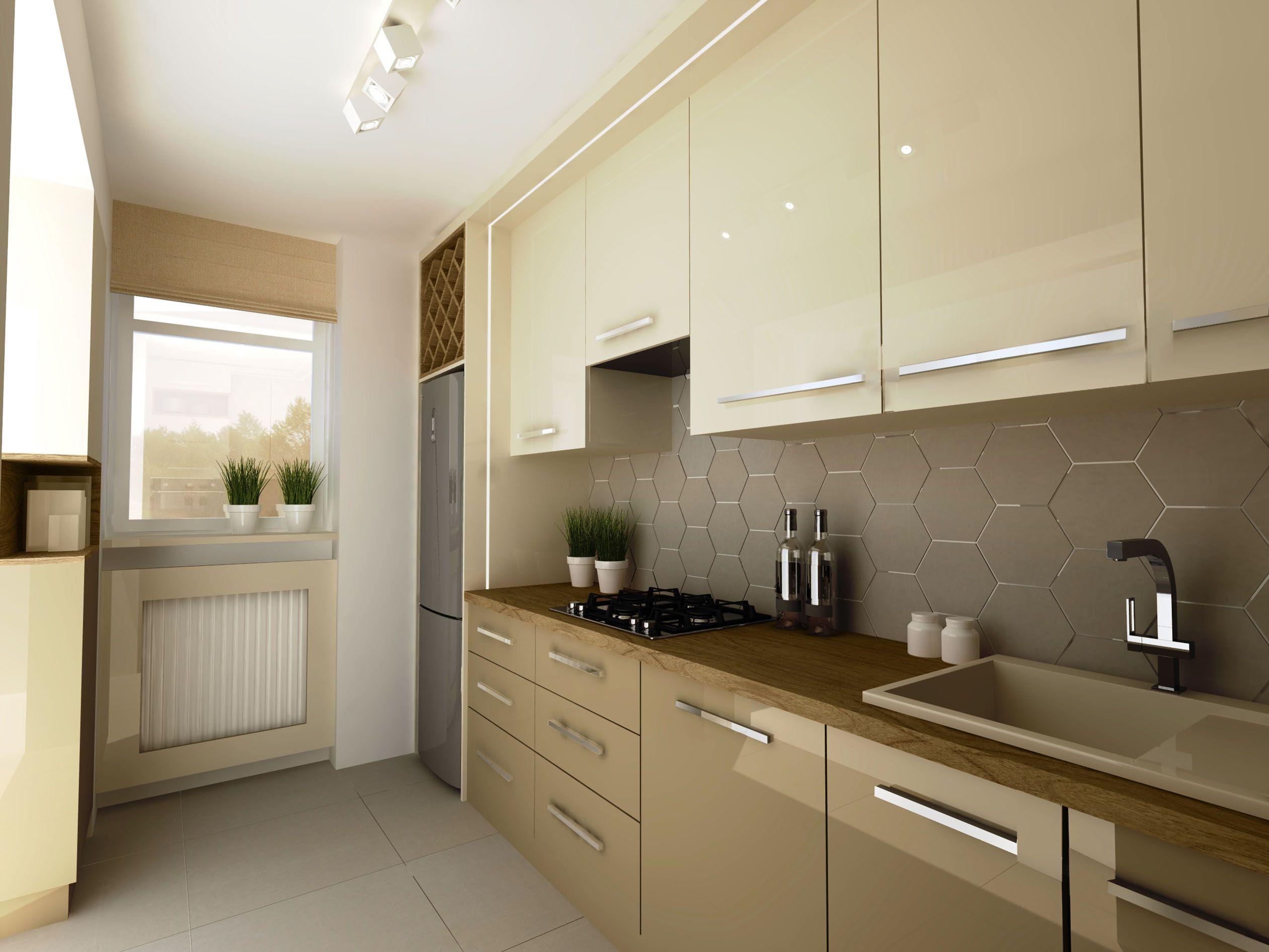 Wizualizacja Archicad Artlantis Kuchnia Jasna Nowoczesna Fronty Mdf Lakierowane Polysk Interior360 Kitchen Home Decor Kitchen Cabinets