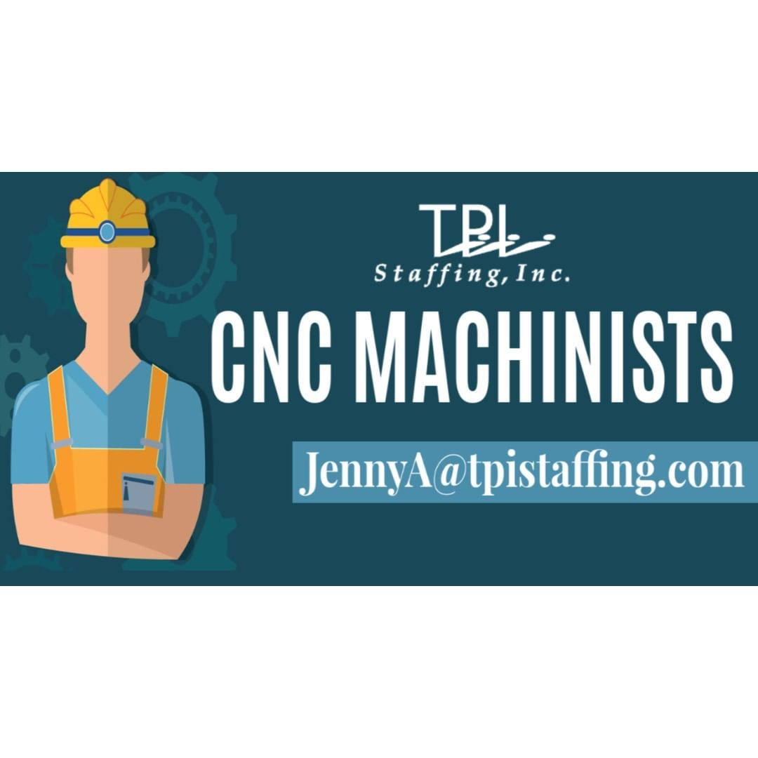 Start Asap By Contacting Jenny For Your Next Cnc Machinist Job