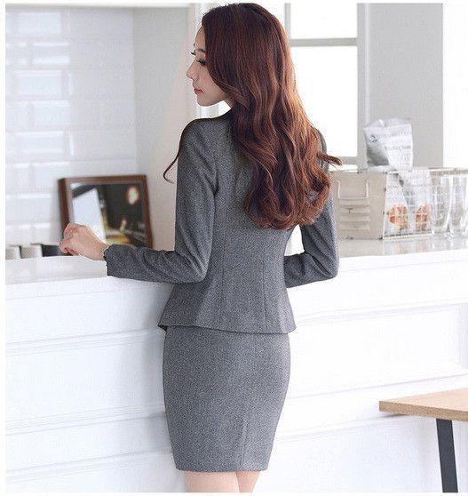 Formal Ladies Office Skirt Suit 2016 Office Uniform Designs Women ...