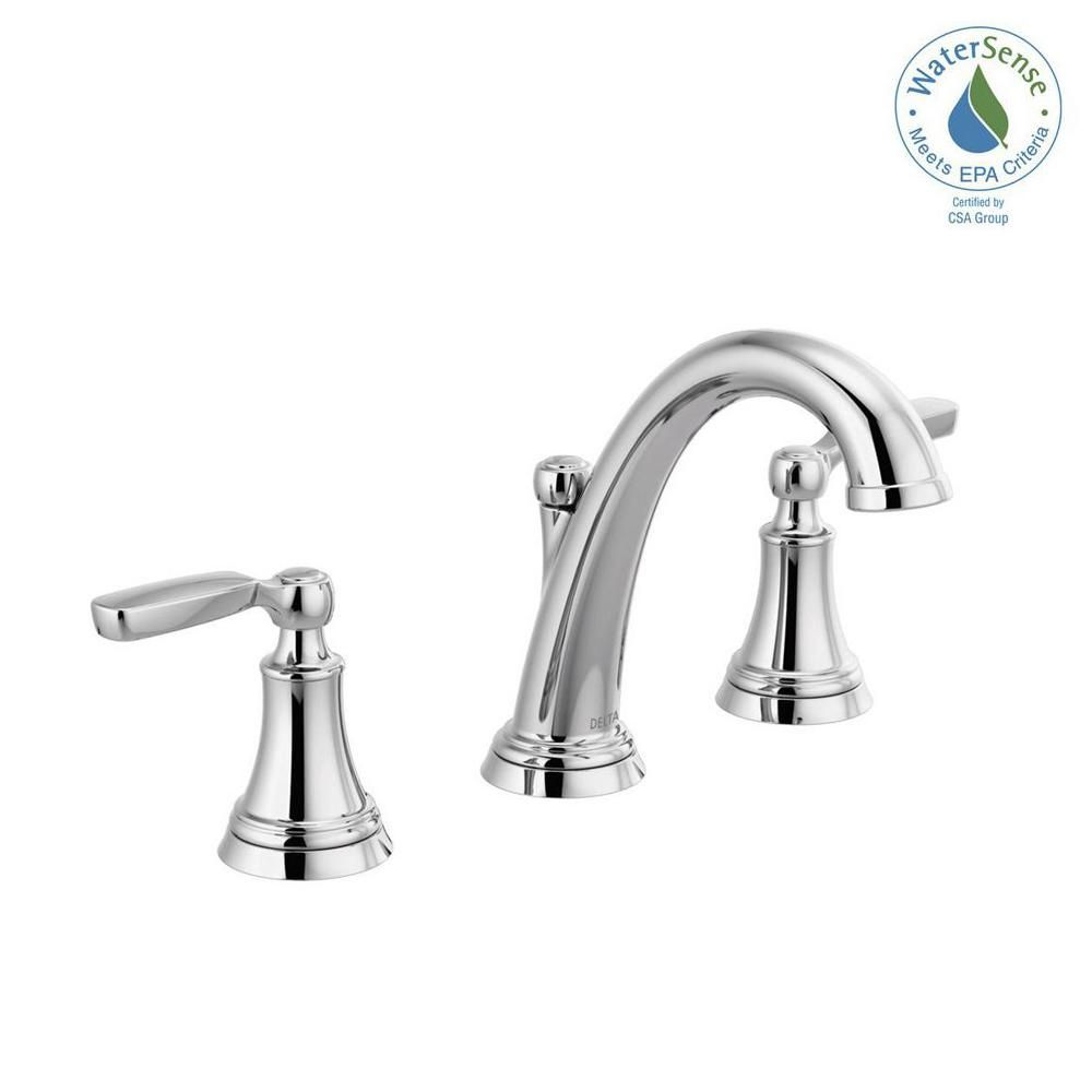 Delta Woodhurst 8 In Widespread 2 Handle Bathroom Faucet In