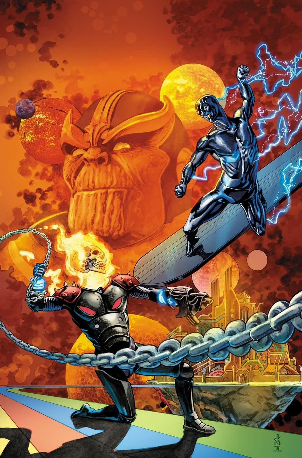 Cosmic Ghost Rider VS Silver Surfer | Superheroes and Villains