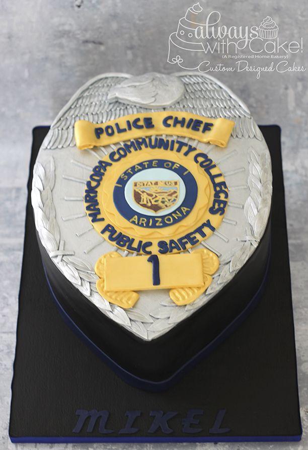 Enjoyable Police Badge Cake With Images Cake Celebration Cakes Bakery Birthday Cards Printable Trancafe Filternl