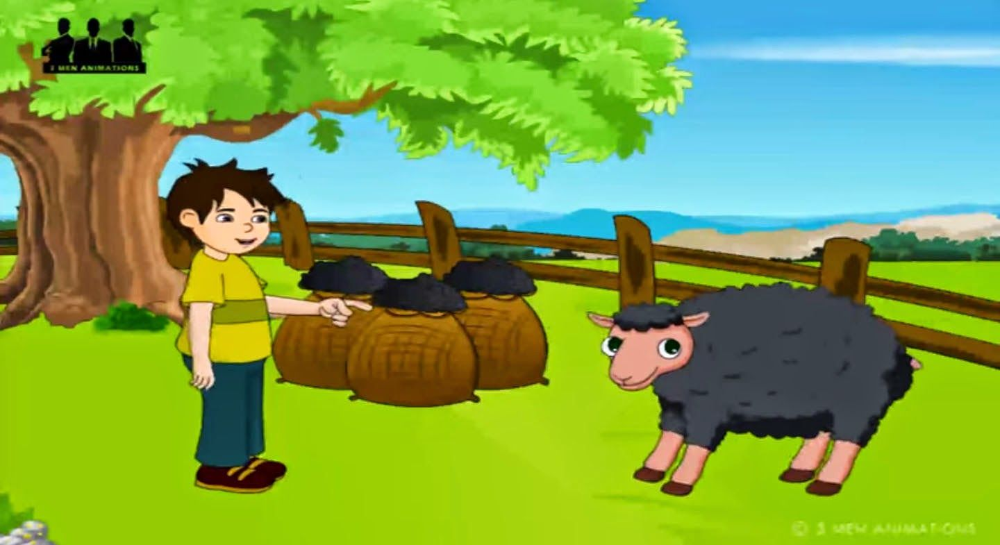 Baa Baa Black Sheep Have You Any Wool Yes Sir Yes Sir Three Bags Full One For My Master And