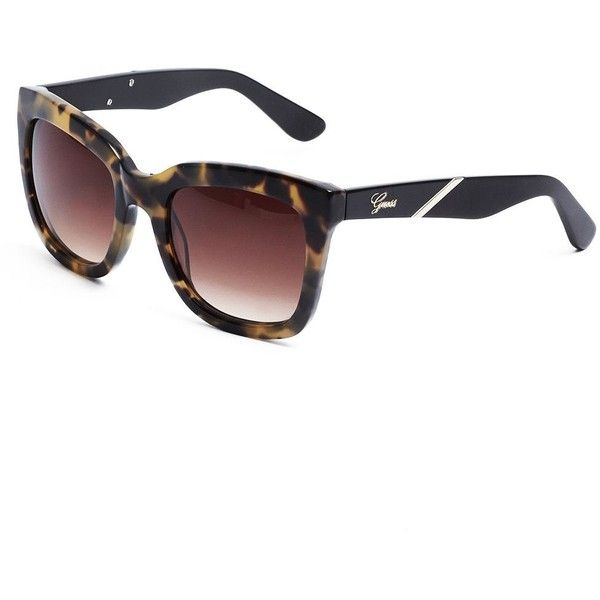 e1c23b57f9 GUESS Julia Square Tortoiseshell Sunglasses ( 85) found on Polyvore  featuring accessories