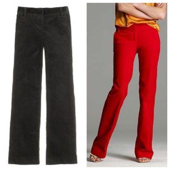 J. Crew Favorite Fit Stretch Trouser Cord, sz 0 NWT! Dark chocolate brown stretch cords J. Crew Pants