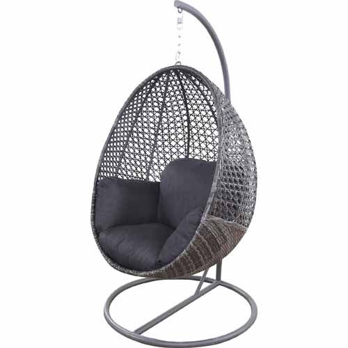 Nouveau Contempo Hanging Egg Chair Charcoal - Mitre 10 perfect - ausenbereich hangekorbsessel egg