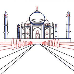 How To Draw The Taj Mahal By Koreacow Taj Mahal Drawing Taj
