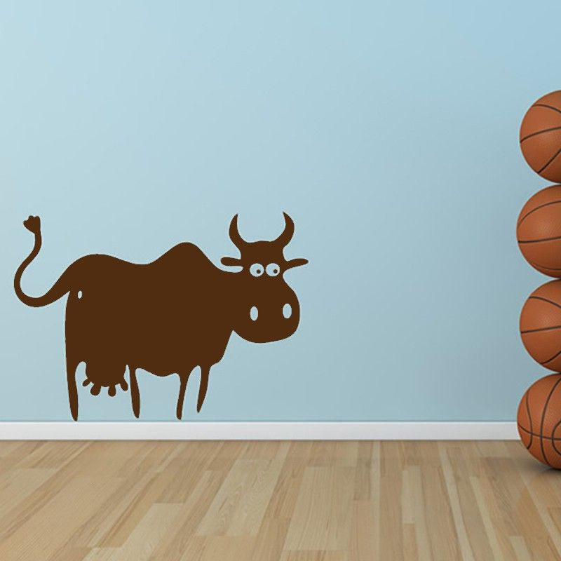 Simple Design Cow Wall Decal Removable Vinyl Adhesive Home Decor - Vinyl wall decal adhesive
