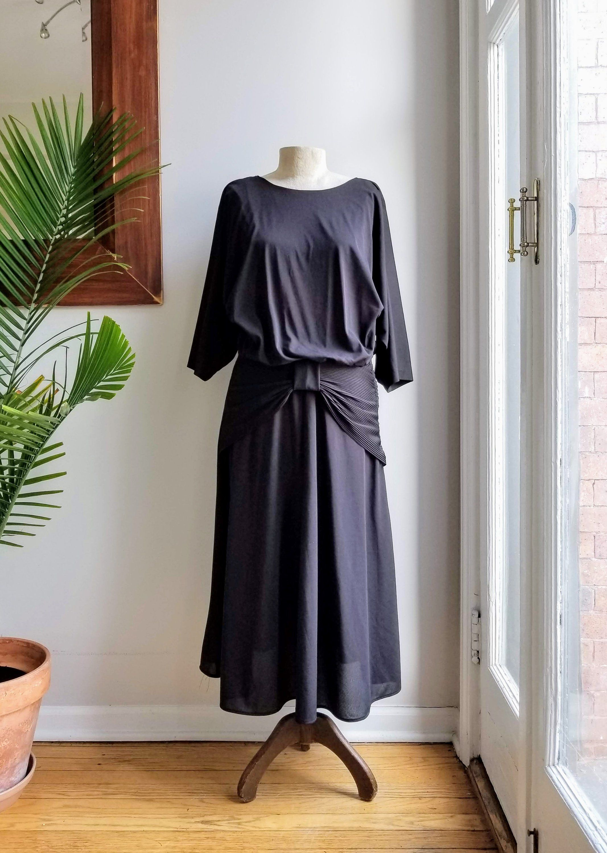 70s Black Chiffon Studio 36 Disco Dress Retro Black Maxi Etsy Disco Dress Retro Dress Ball Dresses [ 3000 x 2134 Pixel ]