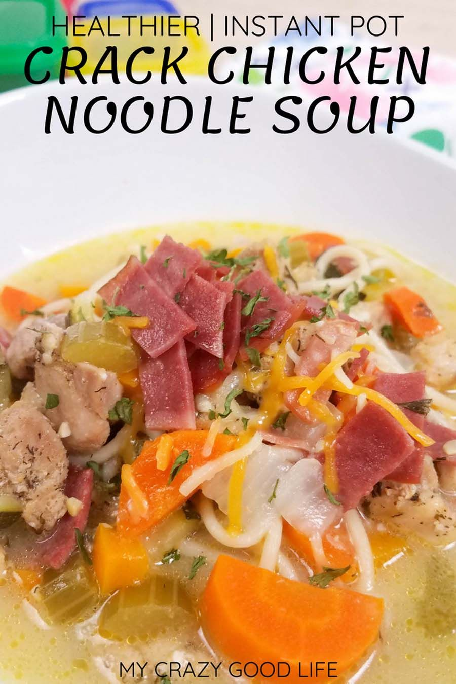 crack chicken noodle soup instant pot recipe