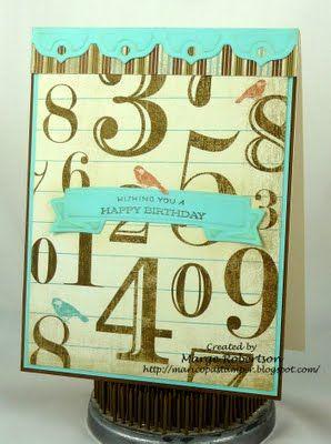 Flea Market birthday card via Maricopa Stamper