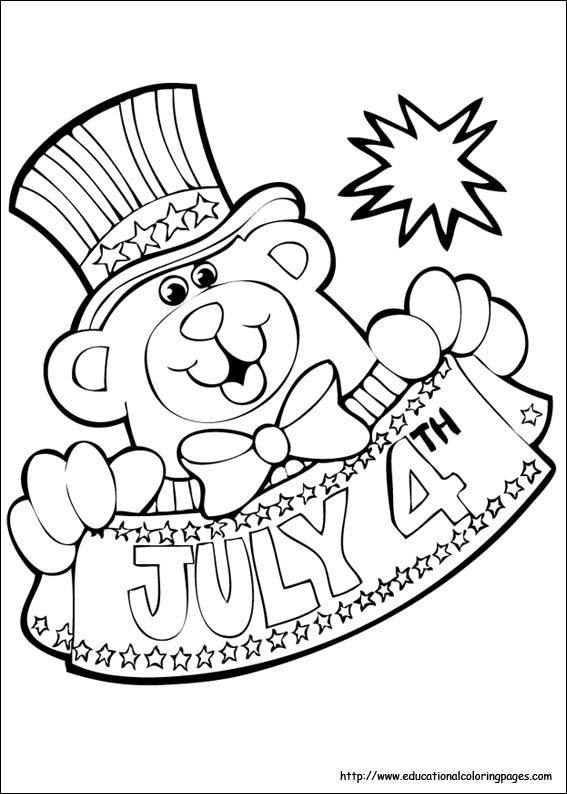 4th of July Coloring Pages Kiddos Pinterest Holiday fun - new 4th of july coloring pages preschool