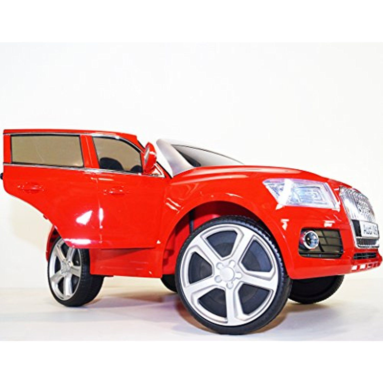 Ride On Car Audi Q5 Style 2 Seater 2 Speed Electric Car With Remote Control Battery Operated Two Motors Total 12v Electric C Tricycle Riding Toys Seater