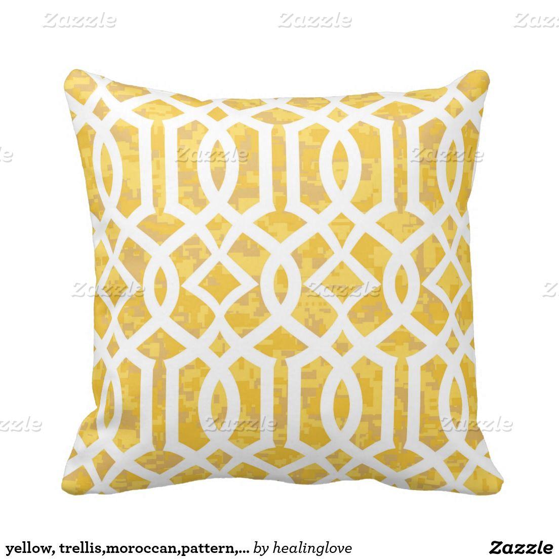 Yellow Outdoor Pillow Cover Modern