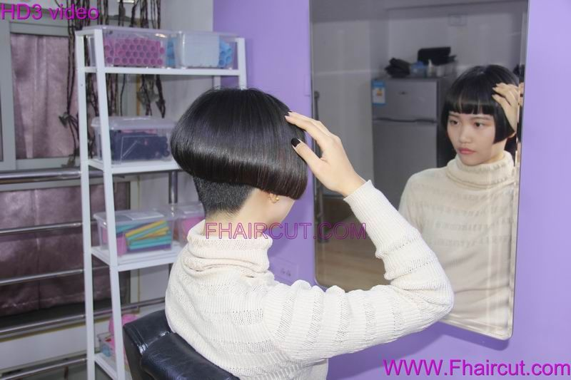 Fhaircut 886 Back View Assym Bobs Pinterest Short Bob Haircuts