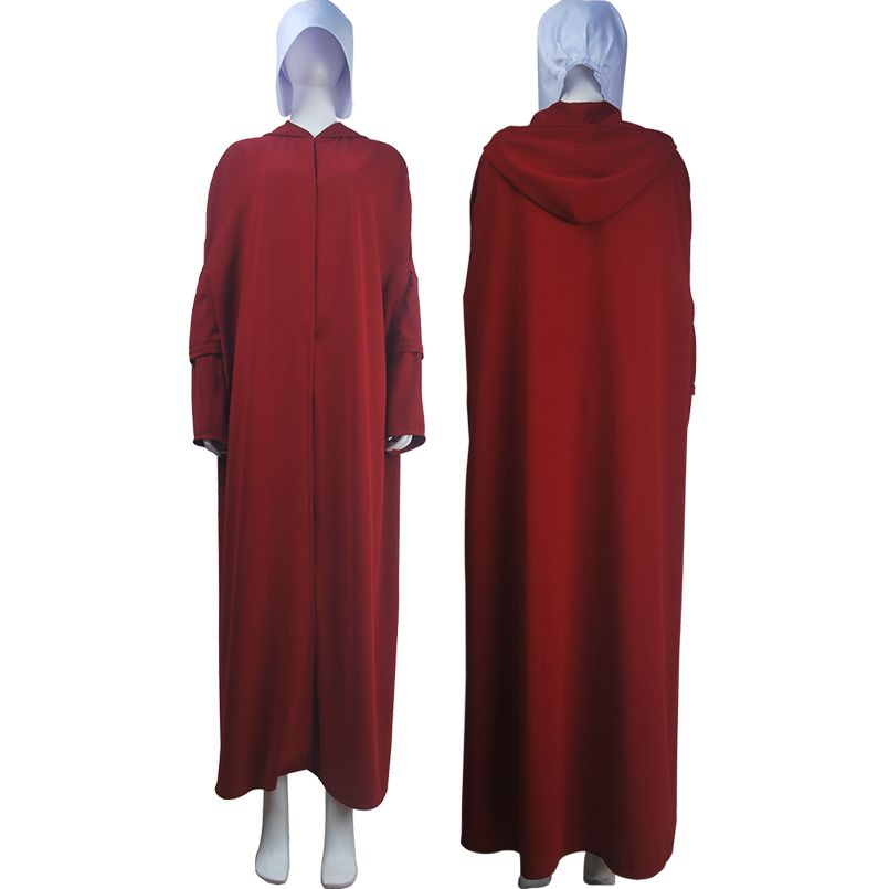 Handmaid/'s Tale Handmaid Cosplay Costume Red Cloak Robe Cape Bag Bonnet HC-233